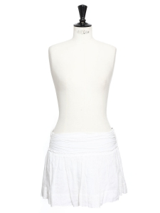 White linen low waist mini skirt Retail price €220 Size 36