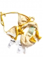 Butter cup yellow triangle bikini and tanga bottom Size 36