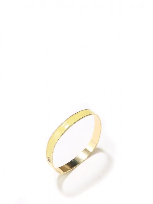 Louise Paris - Bracelet doré et émail jaune clair Taille L 1e5a9834046