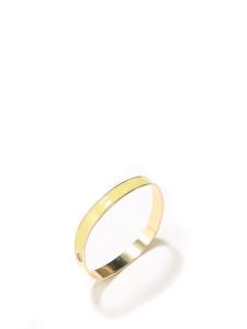 Bracelet doré et émail jaune clair Taille L