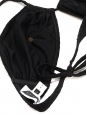 Black waffle VENICE BEACH and FORMENTERA bikini swimsuit NEW Retail price €204 Size XS