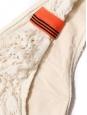 Culotte de maillot de bain échancrée en dentelle écru et orange Prix boutique 100€ Taille 40