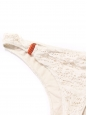 Ecru white lace bikini briefs with orange ties Retail price €100 Size 40