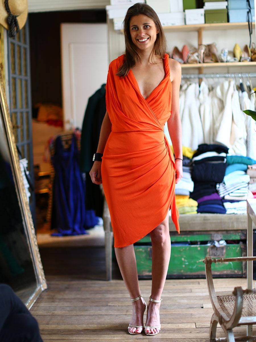 Lanvin Orange Dress