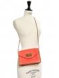 Sac Sally en cuir grainé rouge corail Px boutique 1150€ NEUF