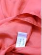 CHLOE Robe en soie sauvage orange rose corail Px boutique 900€ Taille 36