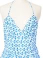 Combishort en coton imprimé fleuri liberty bleu clair et blanc Taille 34