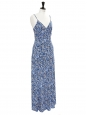 Chiltington white blue and black floral-print jersey maxi dress Retail price €310 Size 36