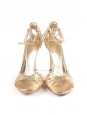 Gold leather ankle strap heel sandals NEW Retail price €690 Size 37.5