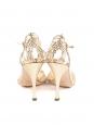 Sandales à talon et bride cheville en cuir doré NEUVES Px boutique 690€ Taille 37,5