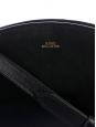 Sac à bandoulière Demi-Lune en cuir végétal noir NEUF Prix boutique 320€