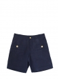 Navy blue cotton and linen shorts with golden buttons NEW Retail price €115 Size 36
