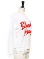Sweatshirt BLOODY MARY blanc brodé rouge Px boutique $268 Taille 34 à 36