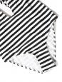 Maillot de bain une pièce blanc rayé noir dos nu bretelles tressées croisées Taille 38