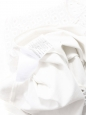Robe ajustée cintrée mi-longue en dentelle et jersey de coton blanc ivoire Prix boutique 1200€ Taille 36