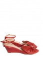 """Terry"" red leather wedge sandals NEW Retail for 500€ Size 37"