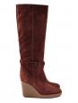 Brown wedge boots retail 750€ new Size 38