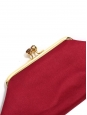 Maud red satin clutch bag with crystal clasp Retail price €530
