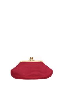 Sac du soir MAUD clutch en satin rouge Prix boutique 530€