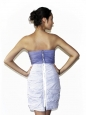 Strip white and blue cotton bustier dress retail 450€ Size 34
