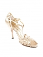 Gold leather ankle strap heel sandals Retail price €450 Size 38.5