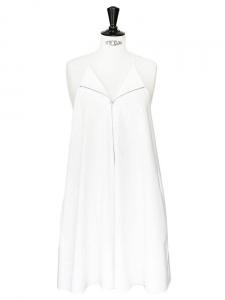 Robe en coton blanc à fines bretelles Px boutique 425$ Taille 36