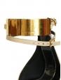 Sandales plates JANIS en cuir beige et plaque dorée Prix boutique 1020€ Taille 41,5