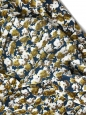 MARNI Jupe midi en soie imprimée fleurie bleu vert, blanc, ocre et marron Prix boutique 700€ Taille 38