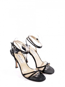 JULIET Black satin heeled sandals with ankle strap Retail price €450 Size 40