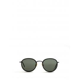 Lunettes de soleil ALO25 rondes monture métal noir et argent Prix boutique 330€ NEUVES