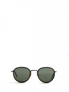 ALO 25 black round luxury sunglasses with silver frame Retail price €330 NEW