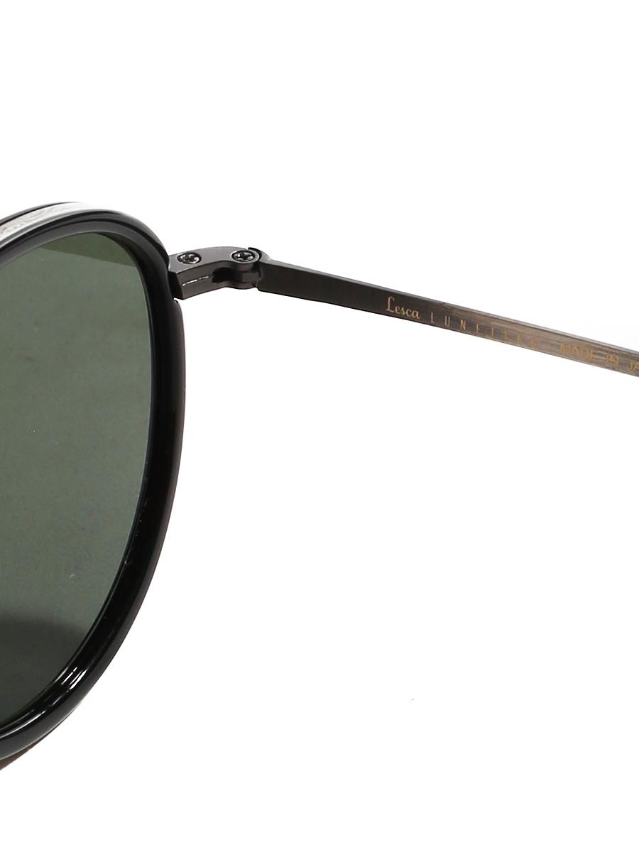 0894dc5e07c4 ... ALO 25 black round luxury sunglasses with silver frame Retail price €330  NEW