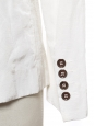 Ivory glossy white two buttons blazer jacket Retail price €1500 Size 36
