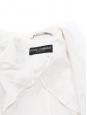 Veste blazer satiné blanc ivoire deux boutons écailles Prix boutique 1500€ Taille 36