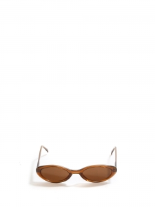 Ovale shape thin light brown sunglasses
