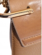 DREW Camel brown bi-material leather bag with gold chain Retail price €1500