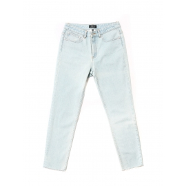 Jean High Standard bleached out taille haute slim fit bleu clair Prix boutique 160€ Taille 27