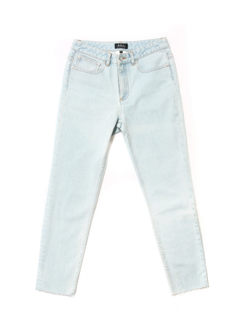 High Standard light blue bleached out high waist slim fit jeans Retail price €160 Size 27