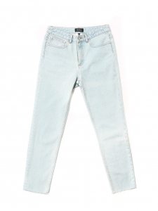 Light blue bleached out high waist slim fit jeans Retail price €160 Size 27