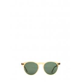 Lunettes de soleil P9 rondes monture jaune ambré verres vert bouteille Prix boutique 260€ NEUVES