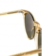 P9 round luxury amber yellow frame sunglasses with bottle green lenses Retail price €260 NEW