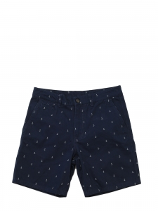 Short Homme en coton bleu marine imprimé ancres Taille S