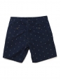 Dark navy and white anchor printed cotton men's shorts Size S