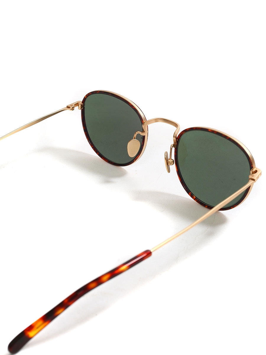 dad1513c863a ... ALO 25 black round luxury sunglasses with silver frame Retail price €330  NEW ...