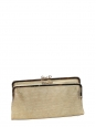 LUCE Metallic gold textured leather wallet clutch Retail price €400