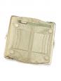 Pochette portefeuille LUCE en cuir texturé métallisé doré Px boutique 400€