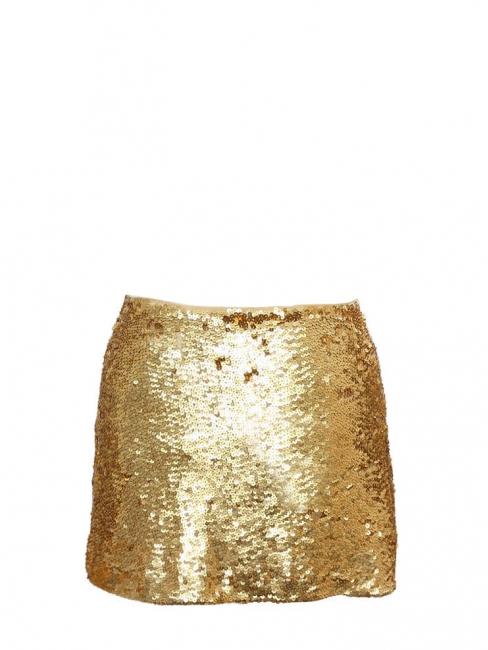 Mini-jupe brodée de sequins dorés Px boutique 280€ Taille M
