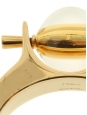 Bracelet manchette ABBY en laiton doré et pierre jaune ambrée Prix boutique 590€