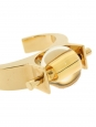 ABBY gold brass bracelet cuff with amber yellow stone Retail price €590