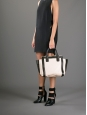 Grand sac à main ALISON en cuir beige rosé et noir Prix boutique 1100€